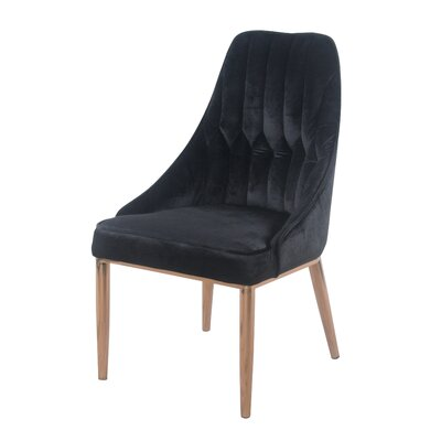 Sheilah Dining Side Chair Finish: Rose Gold/Black