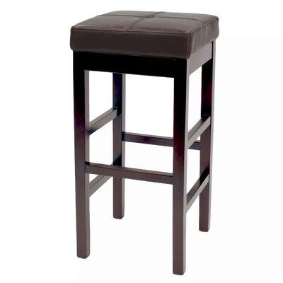Kimberling 31 Wood Bar Stool Upholstery: Brown