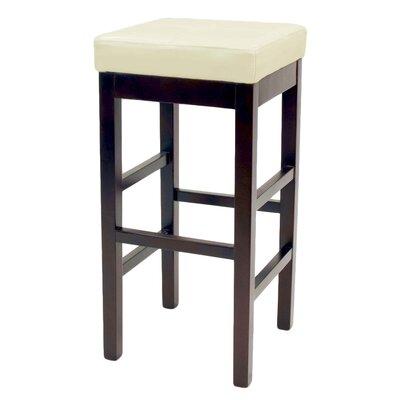 Kimberling 27 Wood Bar Stool Upholstery: Beige