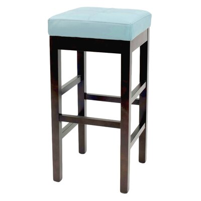 Kimberling 27 Wood Bar Stool Upholstery: Blue
