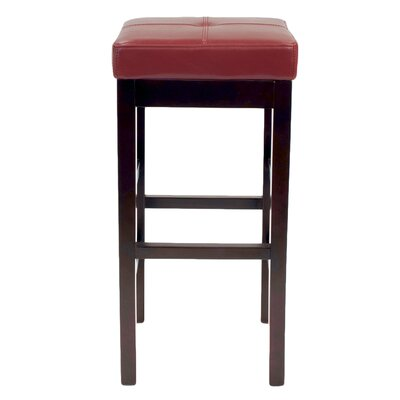 Kimberling 31 Wood Bar Stool Upholstery: Red