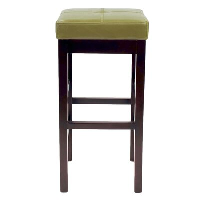 Kimberling 31 Wood Bar Stool Upholstery: Wasabi