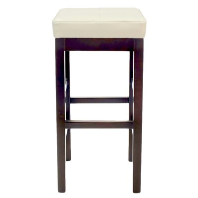 Kimberling 31 Wood Bar Stool Upholstery: Beige