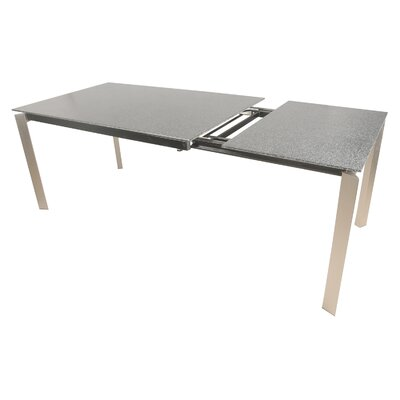 Maciejewski Extendable Dining Table Finish: Stainless Steel