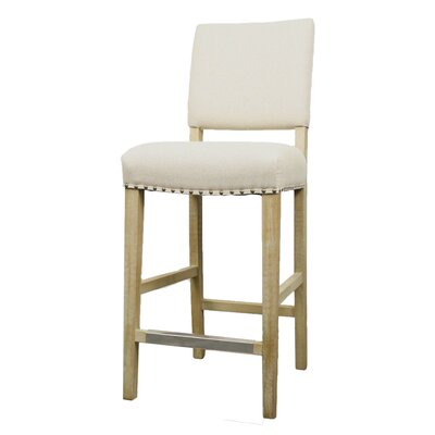 Welling 27 Bar Stool Upholstery: Light Sand