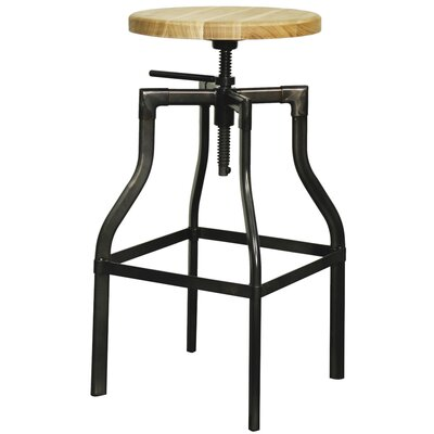 Industrial Adjustable Height Bar Stool