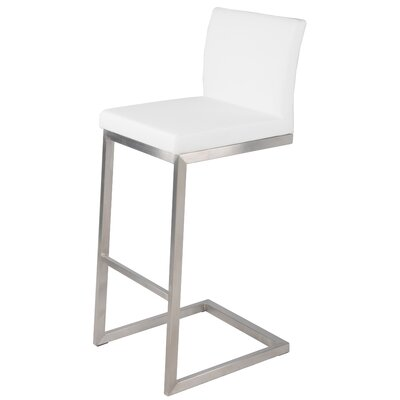 Bran 30 Bar Stool Upholstery: White