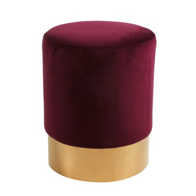 Oliver Round Ottoman Upholstery: Claret / Gold