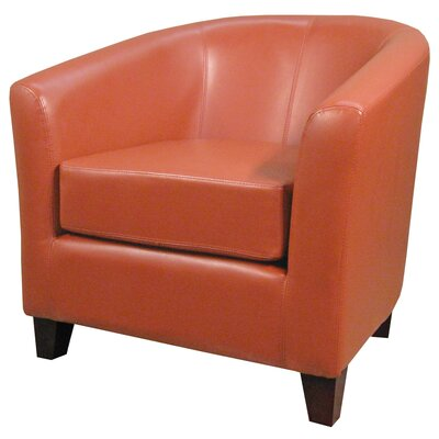 Teesha Solid Barrel Chair Upholstery: Pumpkin