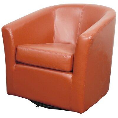 Teesha Barrel Chair Upholstery: Pumpkin