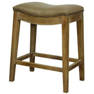 Laniel 25 Bar Stool Finish: Smoked, Upholstery: Vintage Taupe