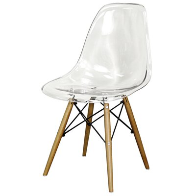 Postma Dining Chair Color: Clear