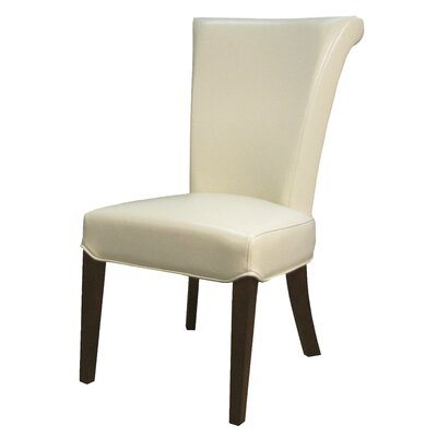 Bentley Genuine Leather Upholstered Dining Chair Color: Beige, Leather Type: Bi-Cast Leather
