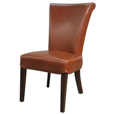 Bentley Genuine Leather Upholstered Dining Chair Color: Cognac, Leather Type: Bi-Cast Leather
