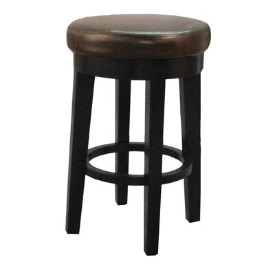Jeddo 25 Swivel Bar Stool Upholstery: Brown