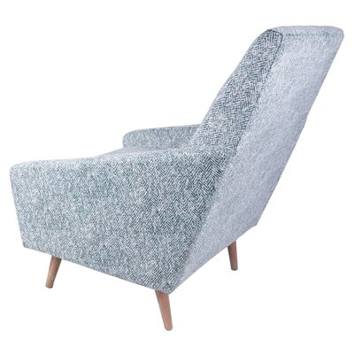 Boivin Lounge Chair Upholstery: Blue