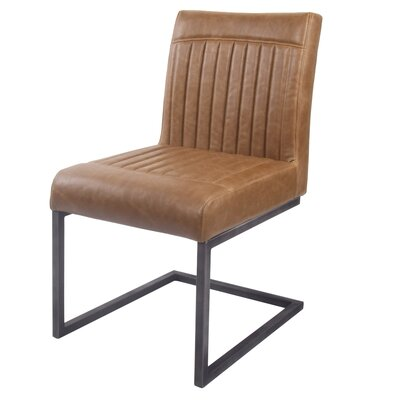 Halina Upholstered Dining Chair Upholstery Color: Brown