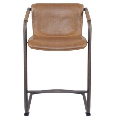 Weinrauch Bar Stool Upholstery: Antique Cigar Brown