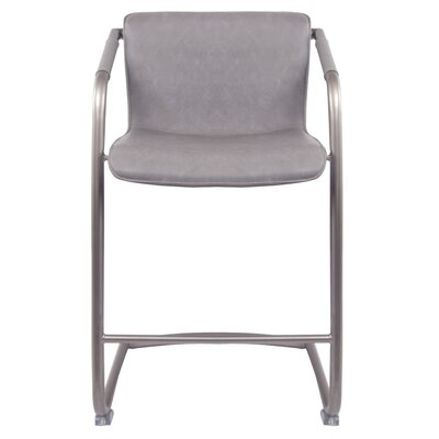 Weinrauch Bar Stool Upholstery: Antique Graphite Gray