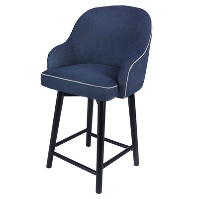 Coster 27 Swivel Bar Stool Upholstery: Denim Slate Blue