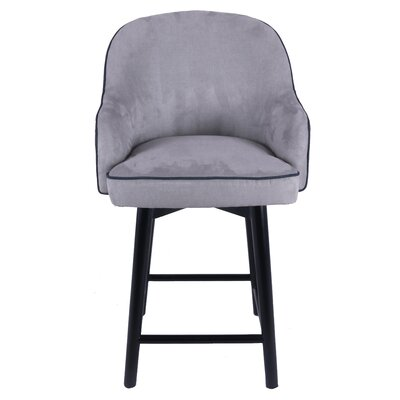 Coster Swivel Bar Stool Upholstery: Denim Dove Gray