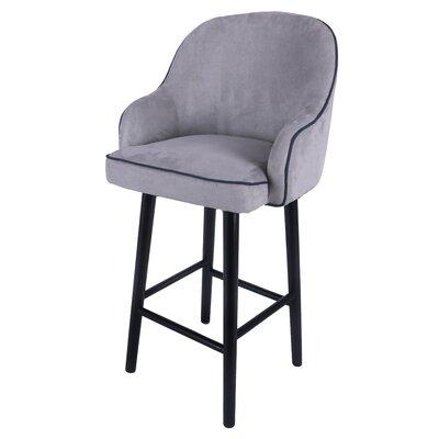 Coster 32.5 Swivel Bar Stool Upholstery: Denim Dove Gray