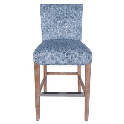 Mercer Contemporary Bar Stool Upholstery: Quiver Indigo Blue