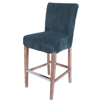 Mercer Contemporary Bar Stool Upholstery: Midnight Thames Blue