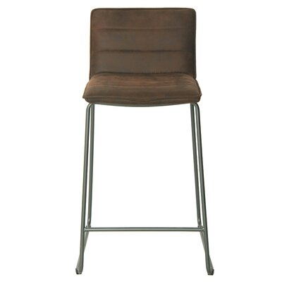 Polins Bar Stool Upholstery: Antique Bistre Brown