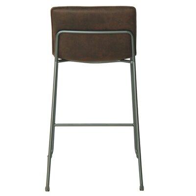 Polins Low Back Bar Stool Upholstery: Antique Bistre Brown