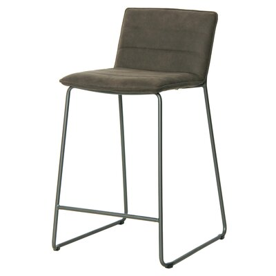 Polins Bar Stool Upholstery: Antique Black