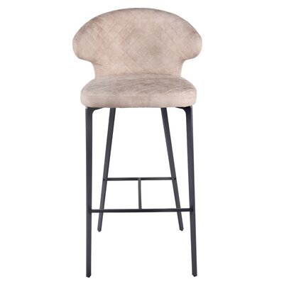 Chessani Bar Stool Upholstery: Saltbox Hide Taupe