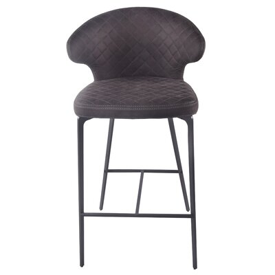 Chessani Bar Stool Upholstery: Moonstone Hide Black