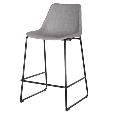 Sein Low Back Bar Stool Upholstery: Vintage Mist Gray