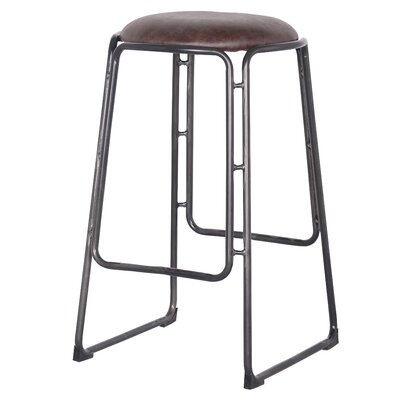 Elna 27.5 Bar Stool Upholstery: Vintage Coffee Brown