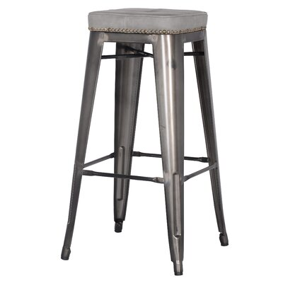 Widefield 31.5 Bar Stool Upholstery: Vintage Mist Gray