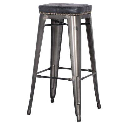 Widefield 31.5 Bar Stool Upholstery: Vintage Black