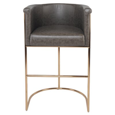 Xamiera 29.5 Bar Stool Upholstery Type: PU Leather-Gray