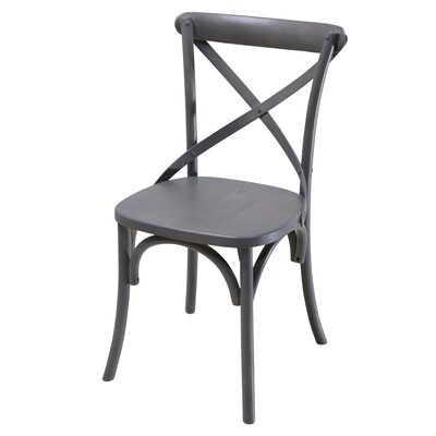 Tarun Solid Wood Dining Chair Color: Gray