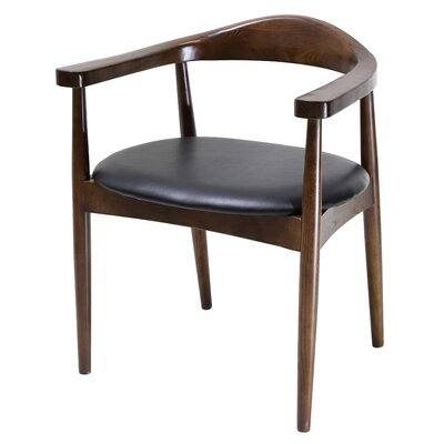 Antony Solid Wood Dining Chair Color: Dark Walnut