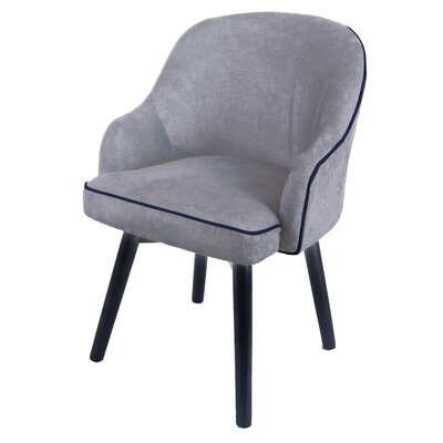 Damico Upholstered Dining Chair Upholstery Color: Denim Dove Gray
