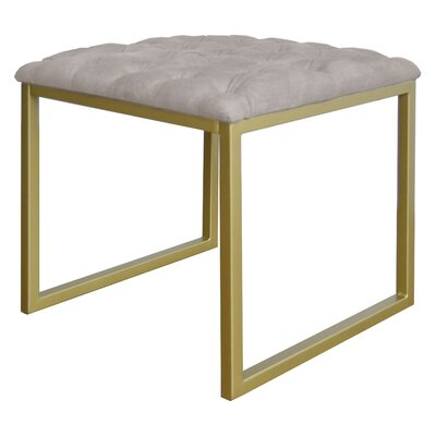 Avril Bonded Leather Square End Table Table Top Color: Beige