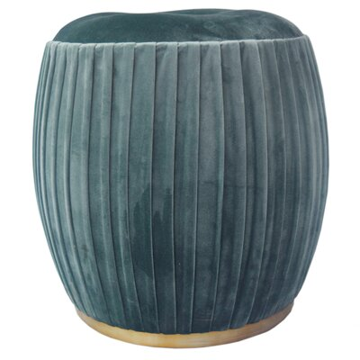 Felicia Pouf Upholstery: Emerald Green
