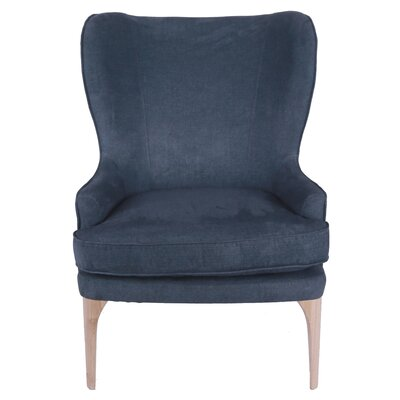 Engelman Wingback Chair Upholstery: Denim Slate Blue