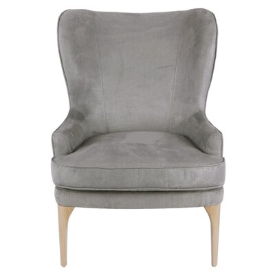 Engelman Wingback Chair Upholstery: Denim Dove Gray