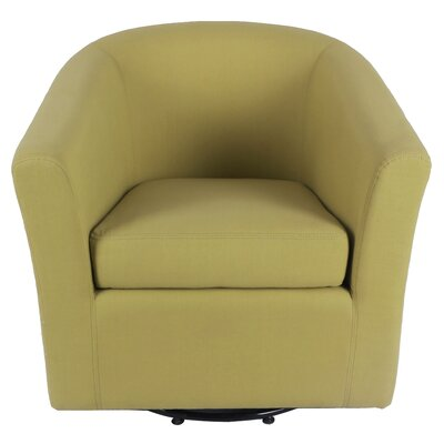 Teesha Swivel Barrel Chair Upholstery: Citron/Lime Leafage Green