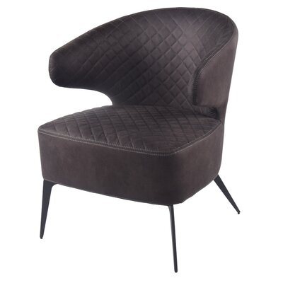 Chessani Armchair Upholstery: Moonstone Hide Black