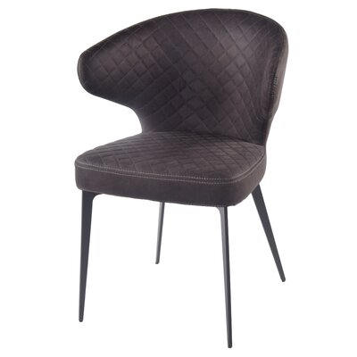 Chessani Upholstered Dining Chair Upholstery Color: Moonstone Hide Black
