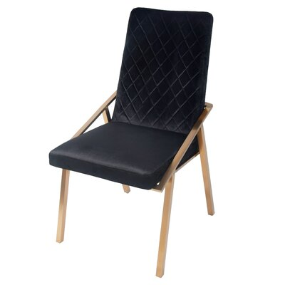 Atisha Upholstered Dining Chair Upholstery Type: Fabric Black