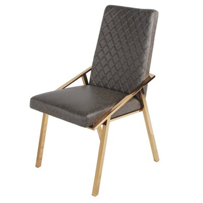 Atisha Upholstered Dining Chair Upholstery Type: Faux Leather Gray